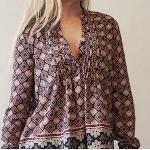 Moon brand bohemian oversized blouse
